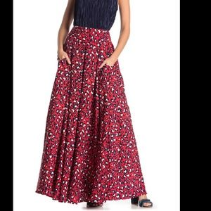 TOV full leopard maxi skirt